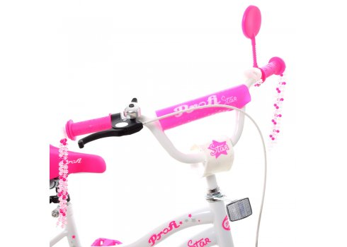 Детский двухколесный велосипед Profi Star 16 дюймов Y1694 бело-малиновый