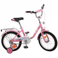 Детский двухколесный велосипед Flower Profi 16 дюймов, L1681 розовый