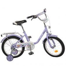 Детский двухколесный велосипед Flower Profi 16 дюймов, L1683 фиолетовый