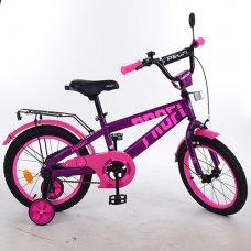 Детский двухколесный велосипед Profi Flash 16 дюймов T16174 фиолетово-розовый