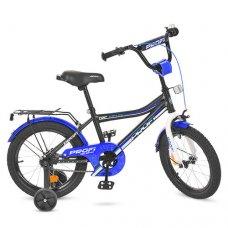 Детский двухколесный велосипед Top Grade Profi 16 дюймов, Y16101 черный матовый