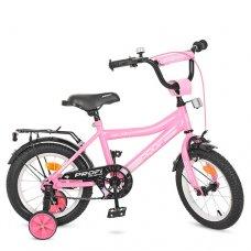 Детский двухколесный велосипед Top Grade Profi 16 дюймов, Y16106 розовый