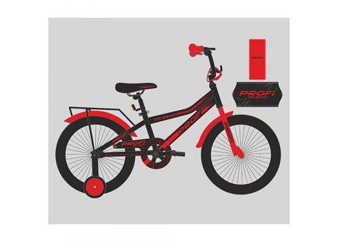Детский двухколесный велосипед Profi Top Grade 18 дюймов, Y18107 черно-красный матовый
