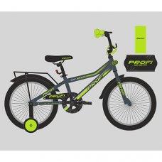 Детский двухколесный велосипед Profi Top Grade 18 дюймов, Y18108 графитово-салатовый матовый