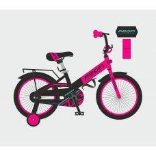 Детский двухколесный велосипед Profi Original 18 дюймов, W18115-7 черно-розовый матовый