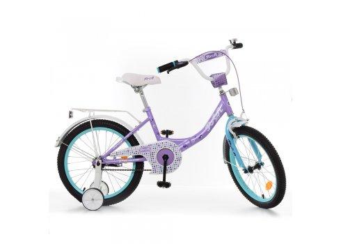 Детский двухколесный велосипед Profi Princess 18 дюймов, Y1815 сиренево-мятный