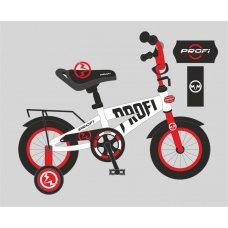 Детский двухколесный велосипед Flash Profi 18 дюймов, T18172 бело-красный