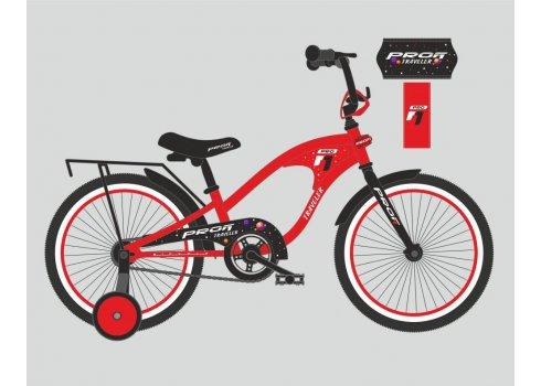 Детский двухколесный велосипед Profi Traveler 18 дюймов, Y18181 красный