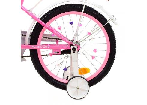 Детский двухколесный велосипед 18 дюймов PROFI Butterfly Y1821-1 розовый