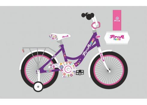 Детский двухколесный велосипед Profi Bloom 18 дюймов, Y1822-1 фиолетовый