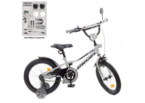 Детский двухколесный велосипед 18 дюймов PROFI Prime Y18222-1 металлик