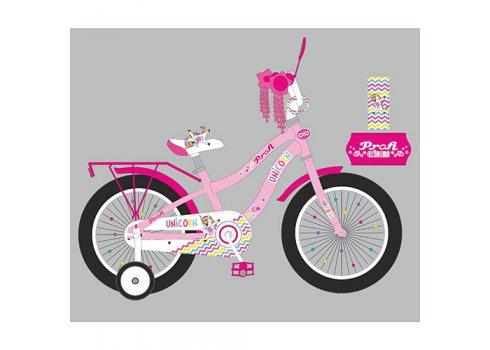 Детский двухколесный велосипед 18 дюймов PROFI Unicorn Y18241-1 розовый