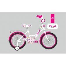 Детский двухколесный велосипед Profi Bloom 18 дюймов, Y1825 бело-малиновый