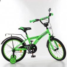 Детский двухколесный велосипед Racer Profi 18 дюймов, T1836 зеленый