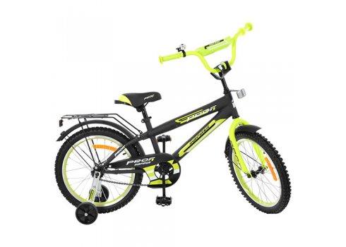 Детский двухколесный велосипед Inspirer Profi 18 дюймов, G1851 черно-салатовый (матовый)