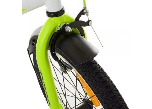 Детский двухколесный велосипед Profi Inspirer 18 дюймов SY1854 черно-бело-салатовый (матовый)
