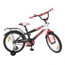 Детский двухколесный велосипед Inspirer Profi 18 дюймов, G1855 черно-бело-красный (матовый)