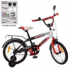 Детский двухколесный велосипед Profi Inspirer 18 дюймов SY1855 черно-бело-красный (матовый)