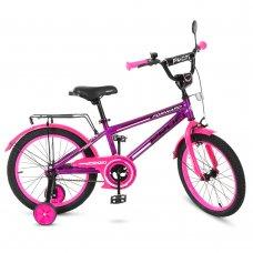 Детский двухколесный велосипед Forward Profi 18 дюймов, T1877 фиолетово-розовый