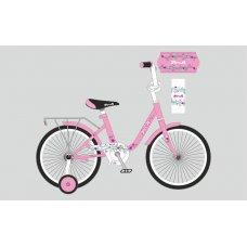 Детский двухколесный велосипед Profi Flower 18 дюймов, Y1881 розовый