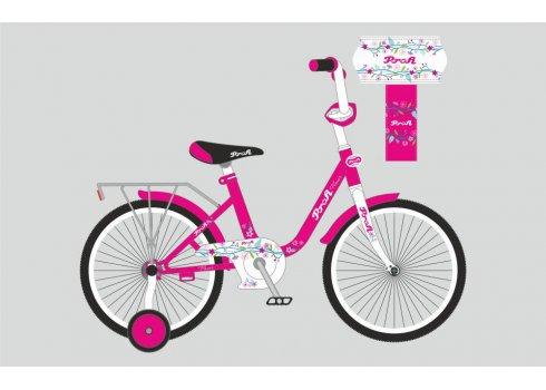 Детский двухколесный велосипед Profi Flower 18 дюймов, Y1882 малиновый