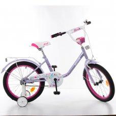 Детский двухколесный велосипед Profi Flower 18 дюймов, Y1883 фиолетовый