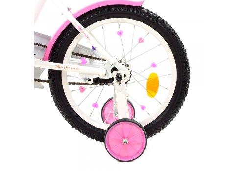 Детский двухколесный велосипед Profi Ballerina 18 дюймов Y1885 бело-розовый