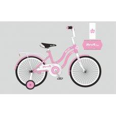 Детский двухколесный велосипед Profi Star 18 дюймов, Y1891 розовый