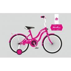Детский двухколесный велосипед Profi Star 18 дюймов, Y1892 малиновый