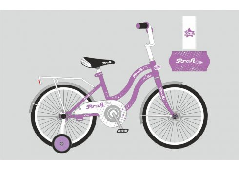 Детский двухколесный велосипед Profi Star 18 дюймов, Y1893 сиренево-серый