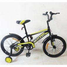 Детский двухколесный велосипед Tilly Flash 18 дюймов, T-21843 Black
