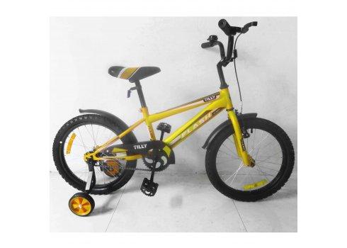 Детский двухколесный велосипед Tilly Flash 18 дюймов, T-21845 yellow