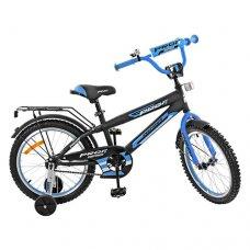 Детский двухколесный велосипед Inspirer Profi 18 дюймов, G1853 черно-синий (матовый)
