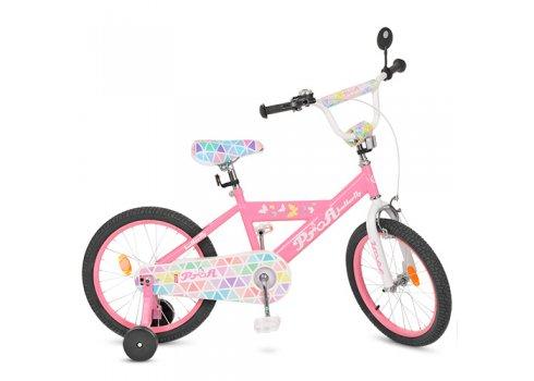 Детский двухколесный велосипед Butterfly 2 Profi 18 дюймов, L18131 розовый
