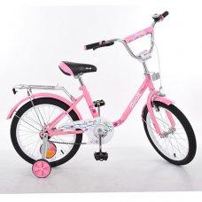 Детский двухколесный велосипед Flower Profi 18 дюймов, L1881 розовый