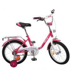Детский двухколесный велосипед Flower Profi 18 дюймов, L1882 малиновый
