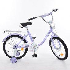 Детский двухколесный велосипед Flower Profi 18 дюймов, L1883 фиолетовый