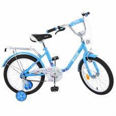Детский двухколесный велосипед Flower Profi 18 дюймов, L1884 голубой