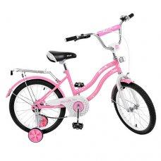 Детский двухколесный велосипед Star Profi 18 дюймов, L1891 розовый