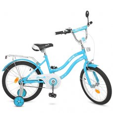 Детский двухколесный велосипед Star Profi 18 дюймов, L1894 голубой