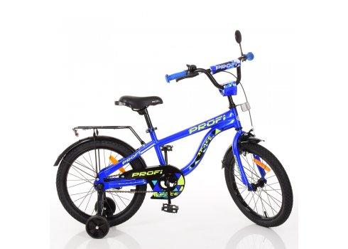 Детский двухколесный велосипед Space Profi 18 дюймов, T18151 синий