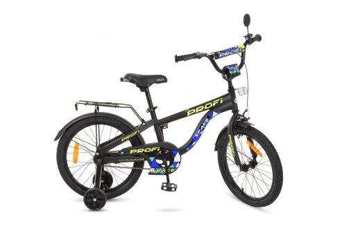 Детский двухколесный велосипед Space Profi 18 дюймов, T18152 черный