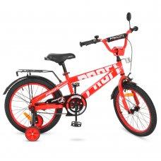 Детский двухколесный велосипед Flash Profi 18 дюймов, T18171 красный