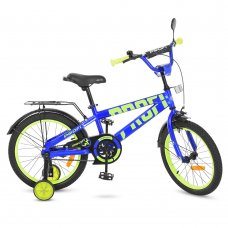 Детский двухколесный велосипед Flash Profi 18 дюймов, T18172 синий