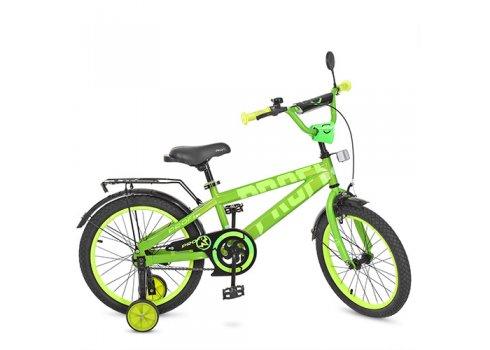 Детский двухколесный велосипед Flash Profi 18 дюймов, T18173 салатовый