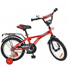 Детский двухколесный велосипед Racer Profi 18 дюймов, T1831 красный