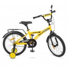 Детский двухколесный велосипед Racer Profi 18 дюймов, T1832 желтый