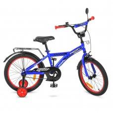 Детский двухколесный велосипед Racer Profi 18 дюймов, T1833 синий