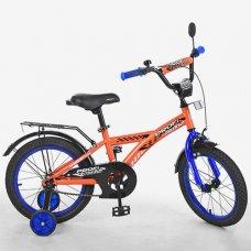 Детский двухколесный велосипед Racer Profi 18 дюймов, T1835 оранжевый