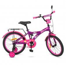 Детский двухколесный велосипед Original girl Profi 18 дюймов, T1863 фиолетово-розовый
